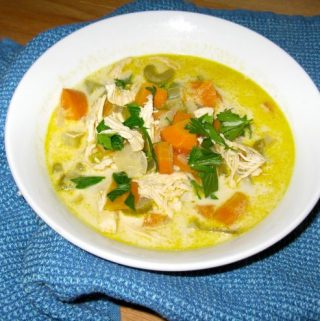 Creamy Chicken Soup with a Kick