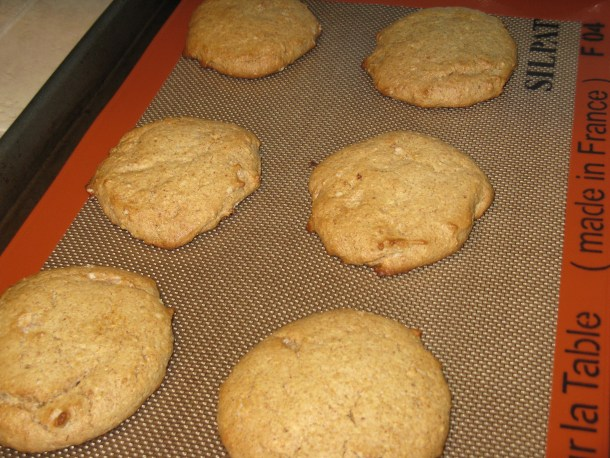 Fresh almond flour biscuits out of the oven. This is my go-to biscuit recipe. Today, I even used fresh ground almond flour.
