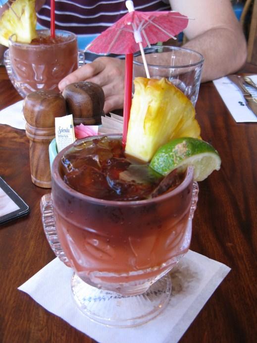 Mai tai cocktails at Duke's on Waikiki Beach!