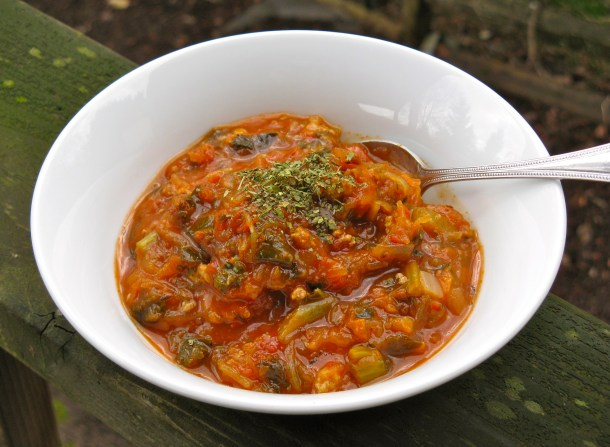 Chicken spaghetti soup.
