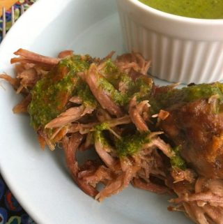 Guest Post: Pork with Creamy Chimichurri Sauce