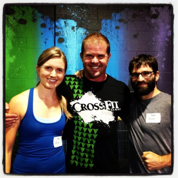 Jesse and me with the Supple Leopard himself, Kelly Starrett. This was taken at the end of our seminar.