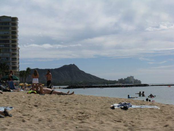 Diamond Head from Waikiki Beach.