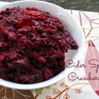 Cider Spiced Cranberries