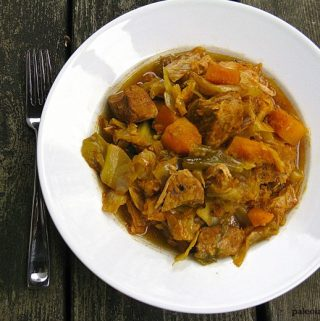 Curried Squash and Cabbage Pork Stew