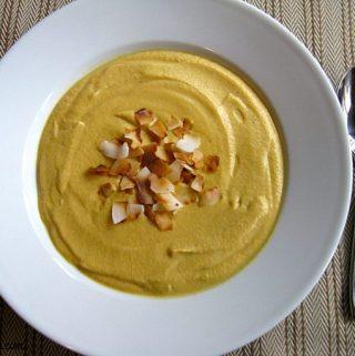 Roasted Curry Cauliflower Soup