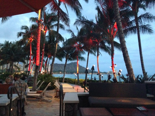 Dinner at Rum Fire after our catamaran ride on our very last night. Honolulu.