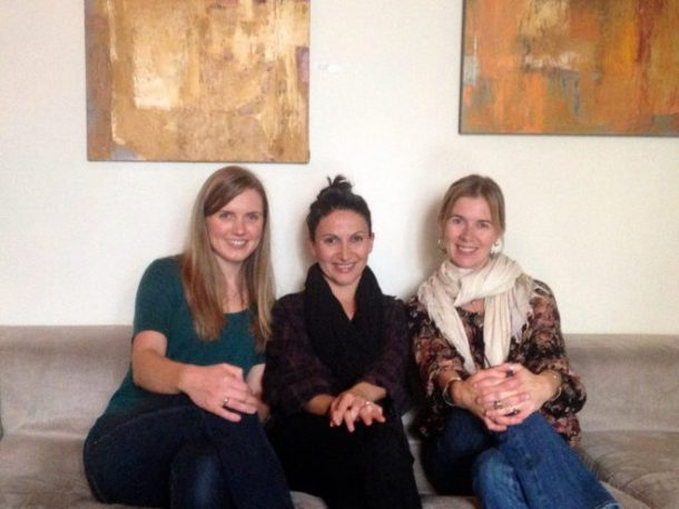 Left to right: me, Arsy and Katja