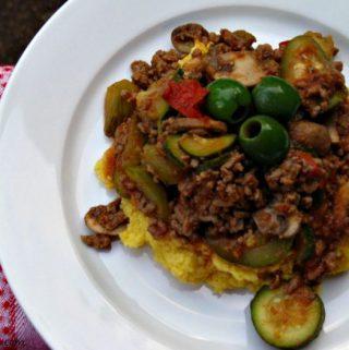 Italian Beef Hash with Mashed Cauliflower