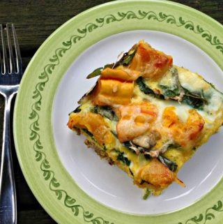 Sausage, Squash and Spinach Egg Casserole