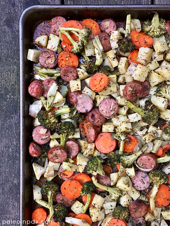 veggies-and-sausage