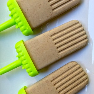 Dairy-Free Banana Almond Butter Popsicles