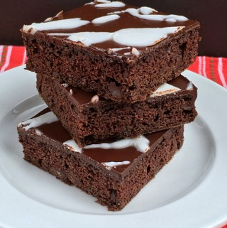 Flourless Dark Chocolate Peppermint Brownies