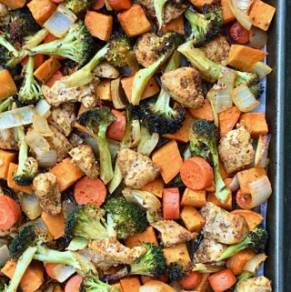 Sheet Pan Spiced Chicken and Vegetables