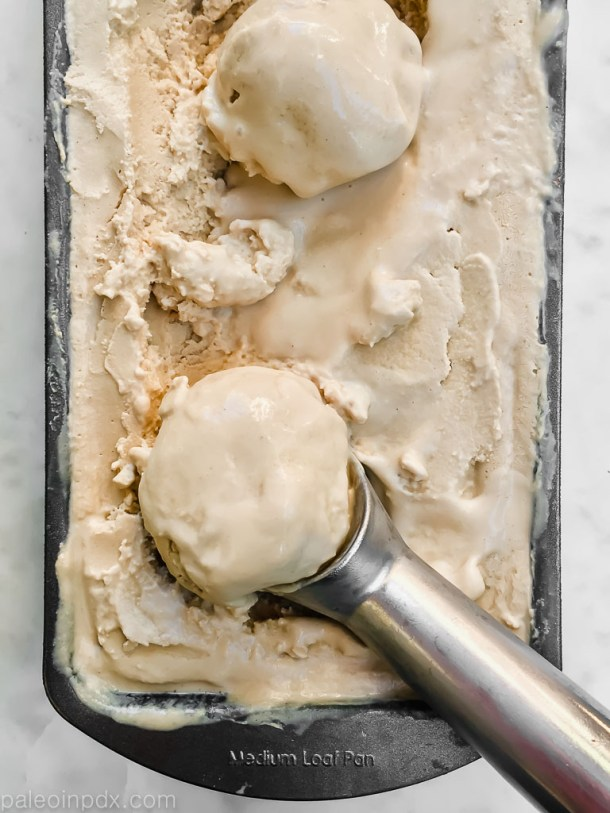 Coconut sugar tahini ice cream