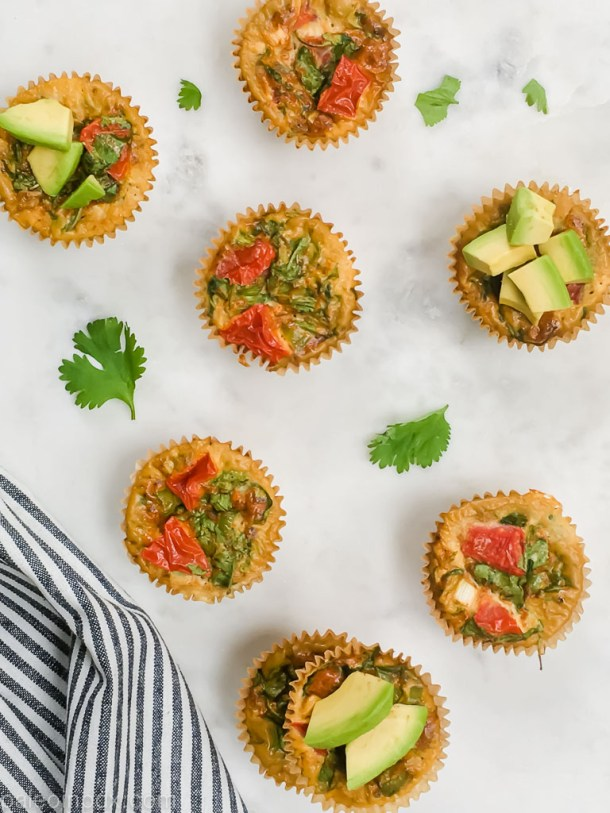 Breakfast taco egg muffins