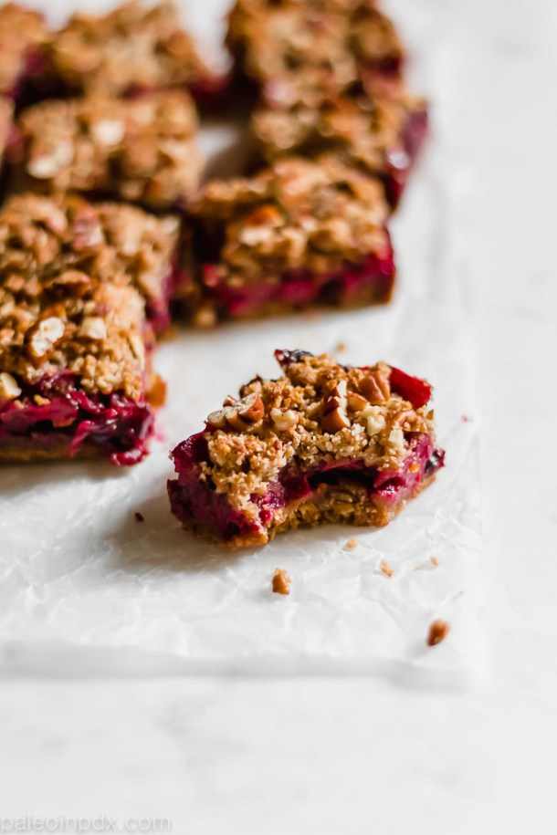 Cranberry Pear Crumble Bars
