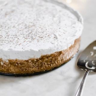 Dairy-free eggnog cheesecake