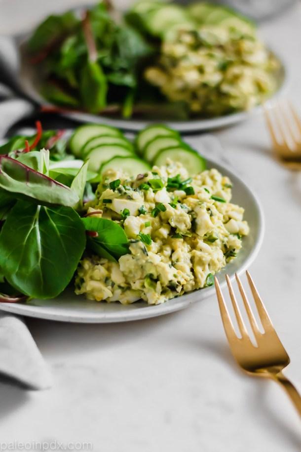 Green goddess egg salad