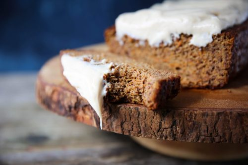 Dairy-Free Cream Cheese Frosted Carrot Loaf