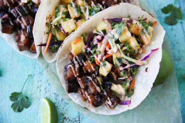 PaleOMG Pork Belly Tacos with Pineapple Salsa