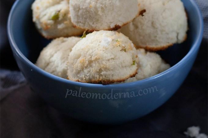 Macarons de coco y lima {sin gluten, sin lactosa}