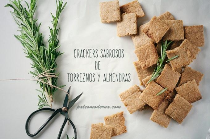 Sabrosos crackers de torreznos y almendras {paleo}