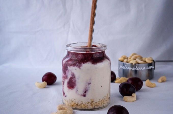 """Mousse de """"cheesecake"""" con frutos rojos {Sin gluten, sin lactosa}"""