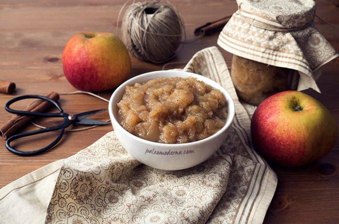 Crema de manzana, applesauce {crockpot, whole30}