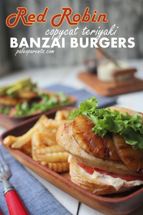 Red Robin Recreation - copycat teriyaki Banzai Burgers as seen on Paleo Parents
