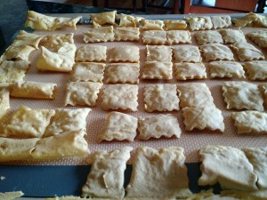 plantain crackers done