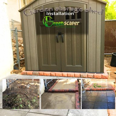 Garden Shed Patio Installation – Total Quality Landscaping Service