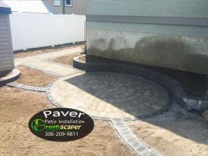 A New Paver Patio Installation Project in Regina 2018