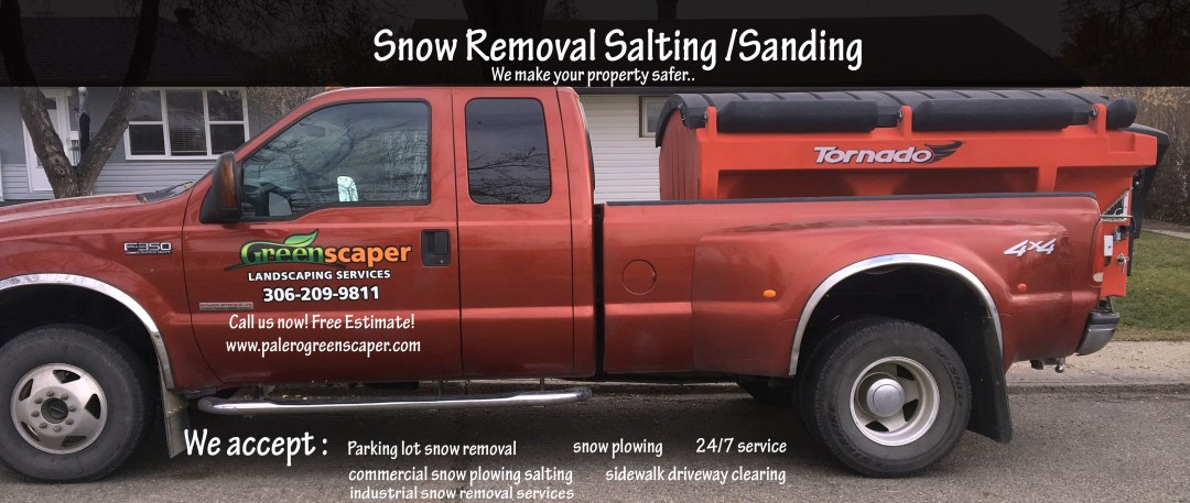 snow removal service sanding salting regina