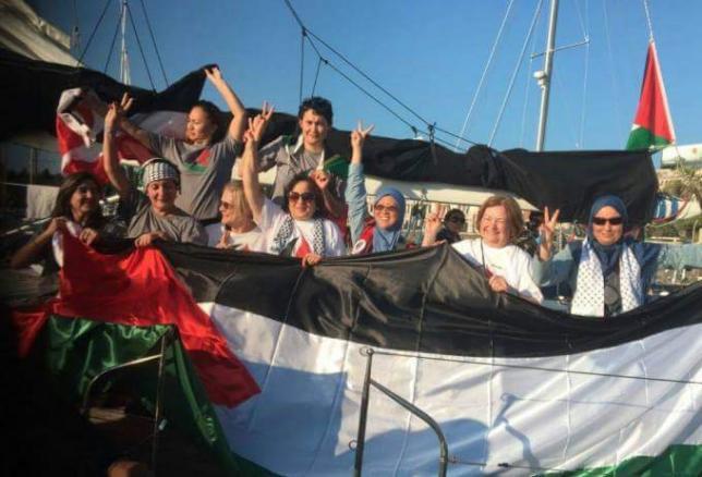 Resultado de imagen para B ARCO DE LAS MUJERES DE LA FLOTILLA D ELALIBERTAD INTERCETADO POR ISRAEL
