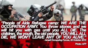 Occupation Army Treaten Palestinian Population