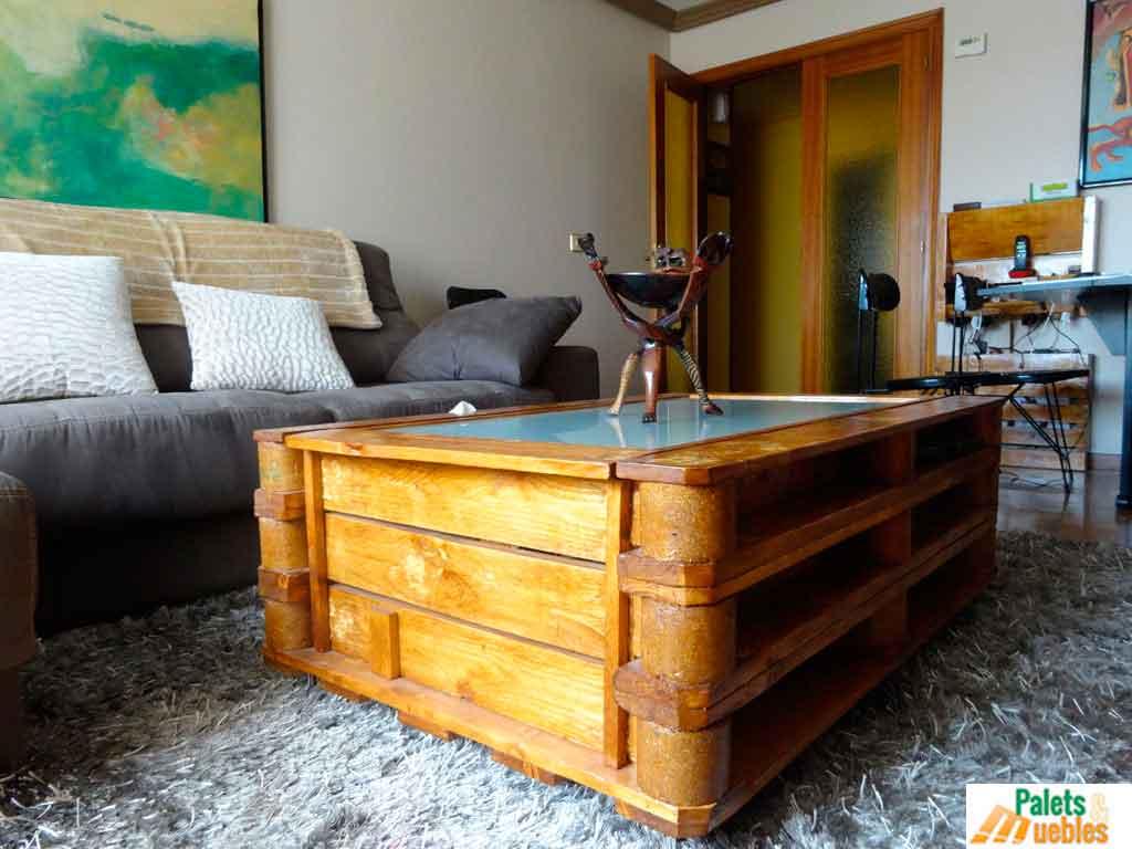 Mesa de centro arc n palets y muebles - Mesas de centro que se elevan ...