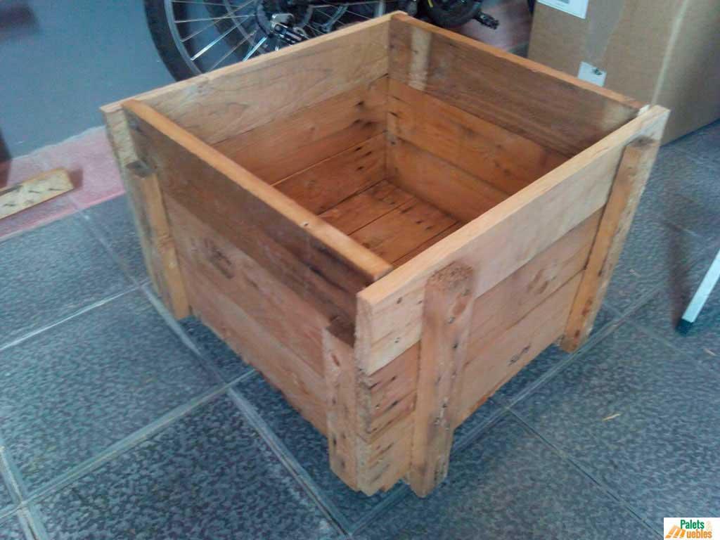 Caj n de madera para jardinera palets y muebles for Tarimas de madera para muebles