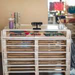 decoracion-mostrador expositor,muebles con palets