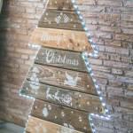 arbol de navida con palets