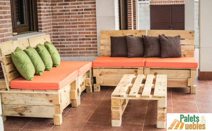 sillon sofa modular con palets de madera - Sillon De Palets