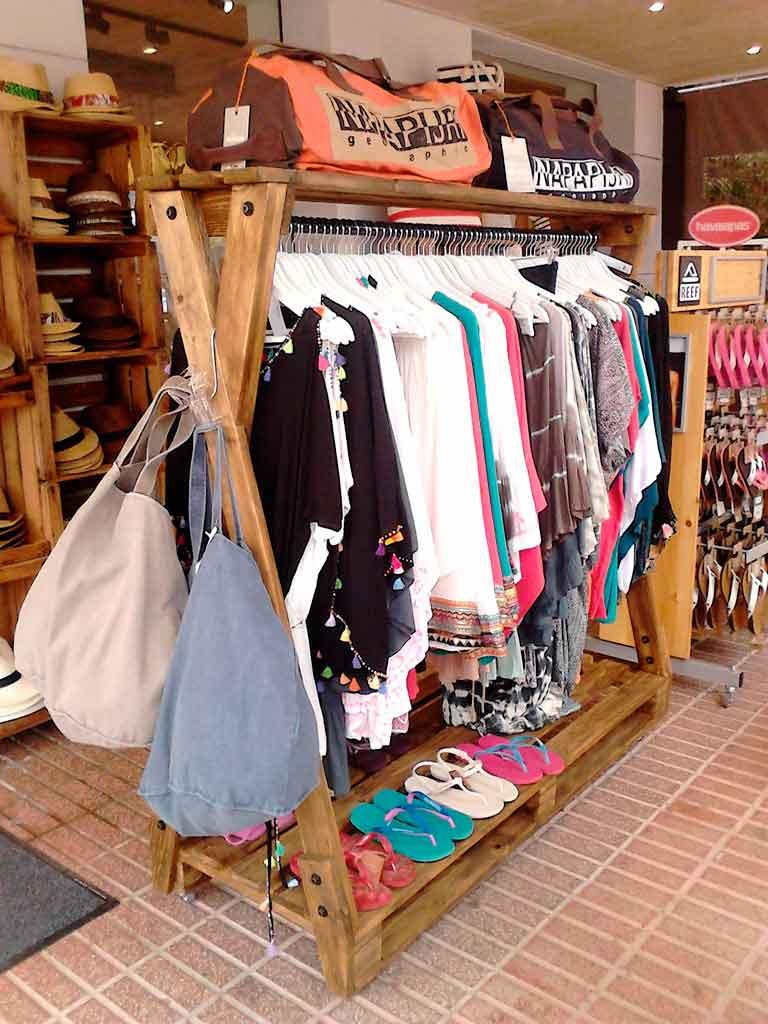 Burro perchero para ropa con palets reciclados plegable - Burros para ropa ...