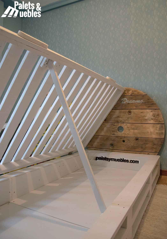 Dormitorio con Palets y elementos Reciclados - PALETS Y MUEBLES