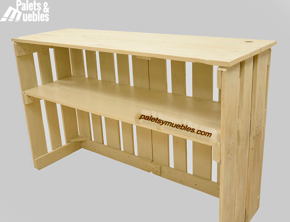 Mostrador de palets palets y muebles - Como hacer sillon de palets ...