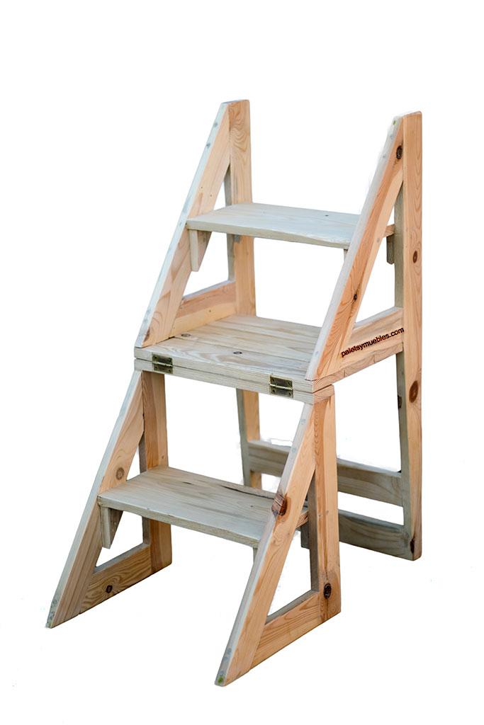 Silla escalera convertible palets y muebles for Sillas ascensores para escaleras precios