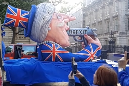brexit carnival float