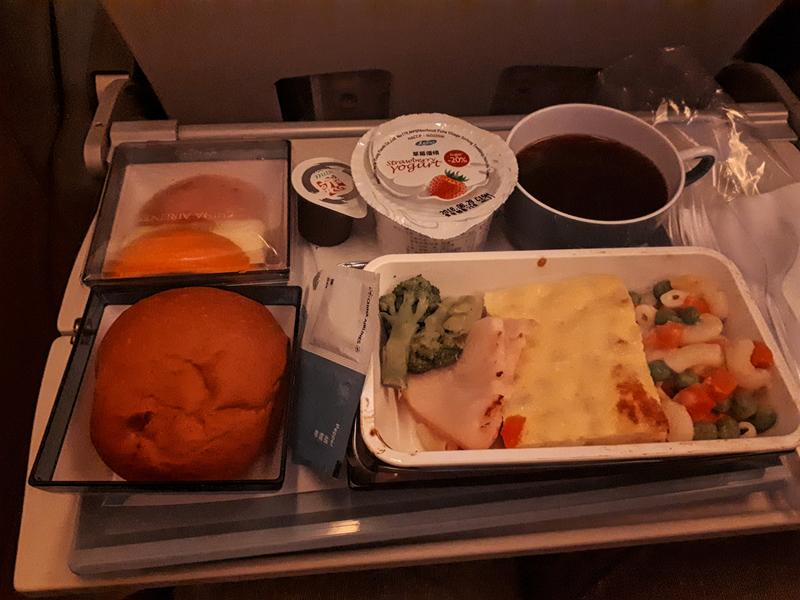 china airlines economy class breakfast