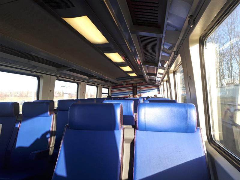 interior dutch intercity train netherlands