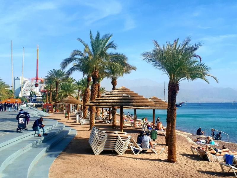 eilat city beach