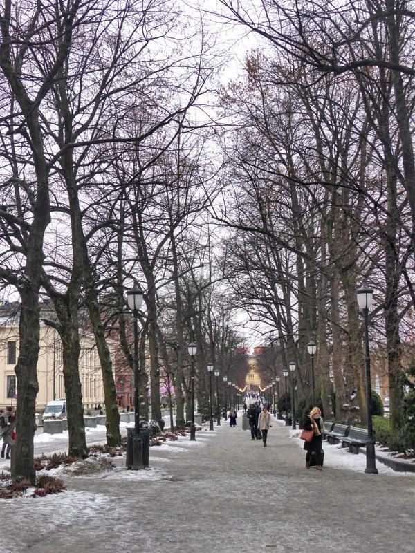 pedestrian street oslo centre